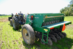 Tractor for planting Food Plot